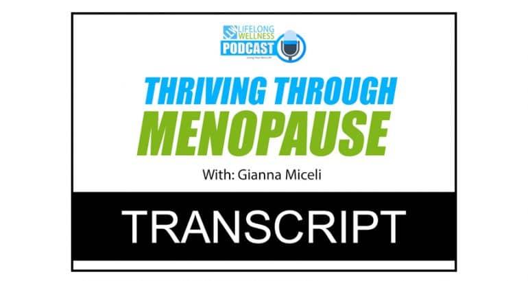 Thriving Through Menopause Transcript