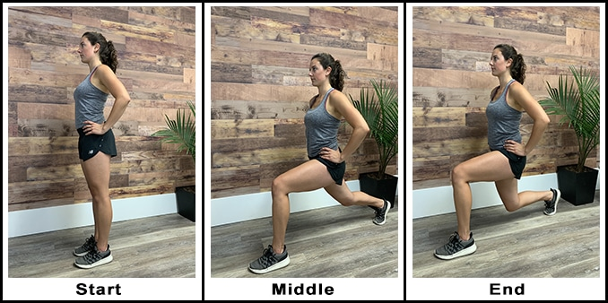 1 Reverse Lunges