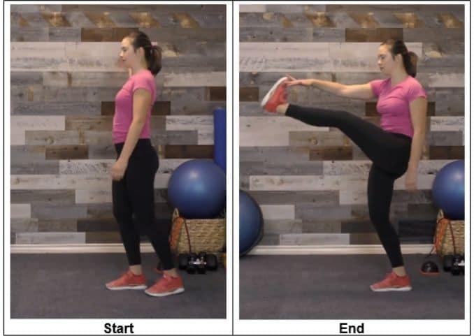 Dynamic Stretching March Kicks