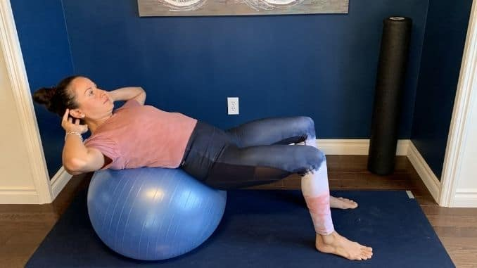 3b - Front Body Opener on Stability Ball