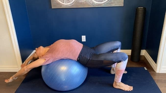 3c - Front Body Opener on Stability Ball