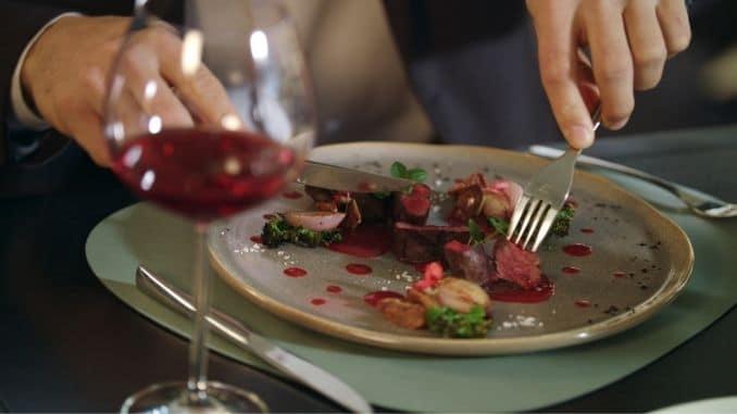 cutting meat steak