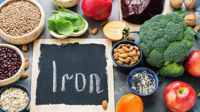 Food with iron