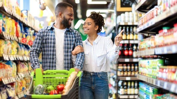 Buying Groceries Indoor