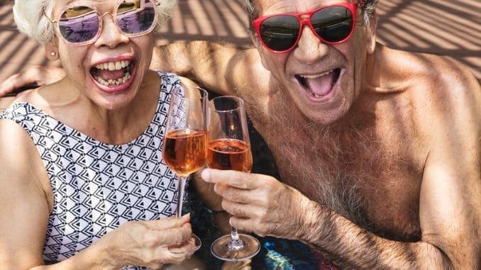 seniors drinking