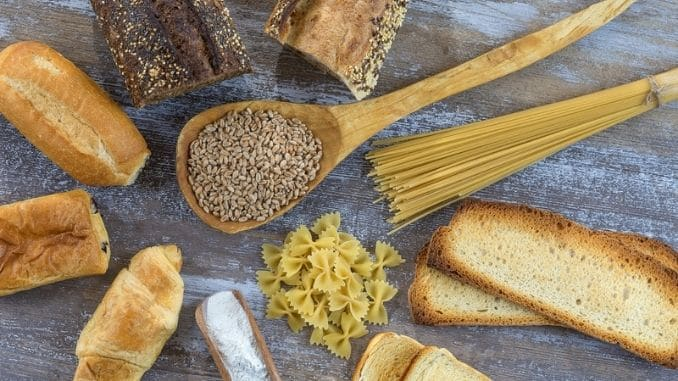 Food with gluten base
