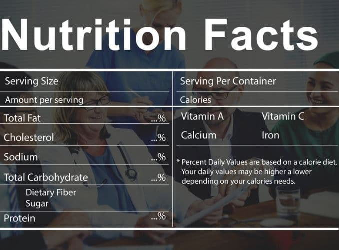 Nutrition Facts Medical Diet