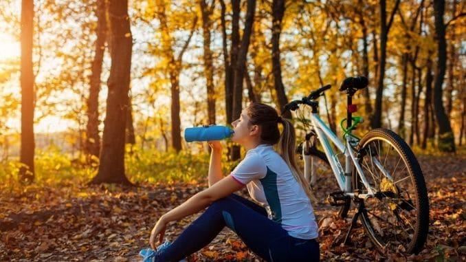 drinks-water-workout-bike