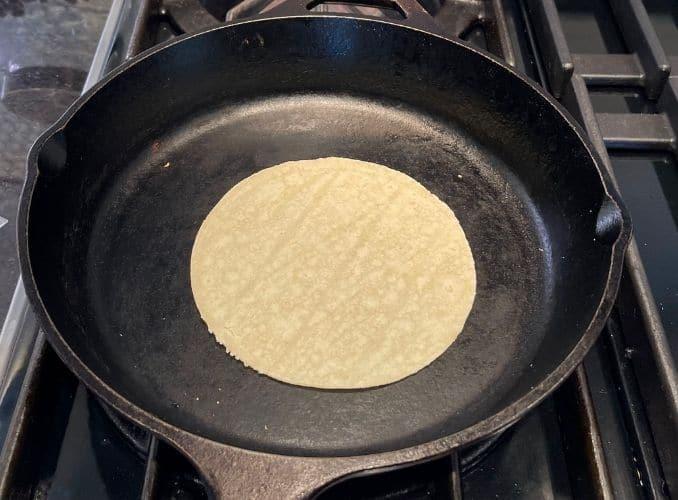 warming tortillas